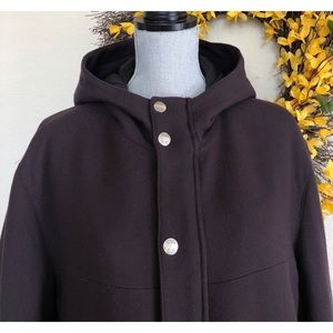 Versace Jackets & Coats - Versace Jeans Mens Hooded Insulated Wool Coat